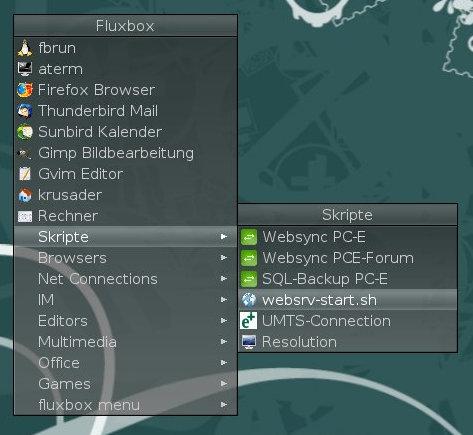 Fluxbox Menü How-To - Aufbau, Icons, Scripte und PNG-Support