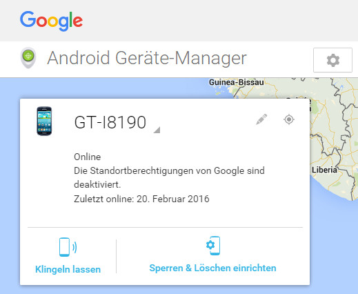 ortung bei android